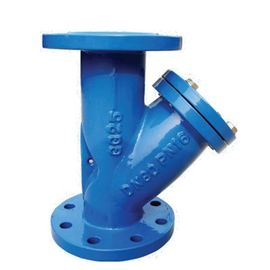 HJ DIN  Y Type Strainer Cast iron Double Flange Filter Blue RAL 5017